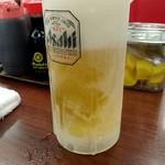 ラーメン魁力屋 - 生ビール