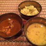 73319225 - カレーとスープと野菜料理