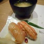 きときと 釣谷鮮魚店 - ランチミニ懐石 握りと味噌汁
