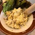 串カツ田中 - 混ざったポテトサラダ。