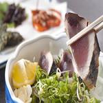 八雲 - 料理写真:高知名物『鰹のタタキ』