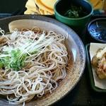 73325370 - 季節の天ぷら蕎麦 アサリとネギの天ぷら