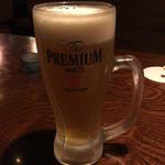 イザカヤいっちょ - 先ずはビールで乾杯