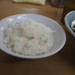 極楽汁麺 らすた - ライス