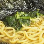 極楽汁麺 らすた - ホウレン草