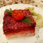ミンスクの台所 - 『ニシンとビーツのサラダ 「毛皮のコートを着たニシン」』