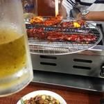 長浜 玄風館 - ビールがうまーい!