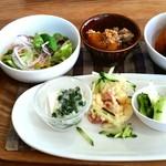 cafe moco moco - 料理写真:発芽玄米ランチ(1,300円)