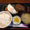 かつ亭 - 料理写真:ハンバーグ定食(200g)+目玉焼き