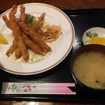 かつ亭 - エビフライ定食