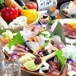 完全個室 海鮮と産地鶏の炭火焼き 鶏菜 -