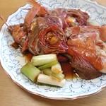 角上魚類 - 金目鯛の煮付け♪ねぎがいい