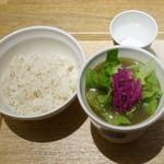 スープストックトーキョー - 11種の野菜と鶏肉スープLと白胡麻ごはん小930円