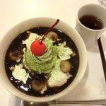 cafe moka - 抹茶ぜんざい(ホットです)