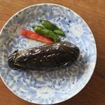 天一 - 揚げ茄子の煮浸し(手前味噌)