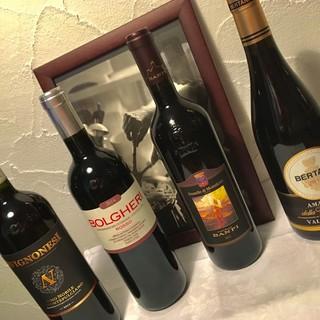 イタリアビールやワイン。イタリアにこだわった飲料ご用意!