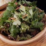 焼肉居酒屋 マルウシミート - パクチーどっさりタイ風サラダ