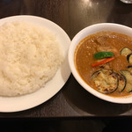 curry 草枕 - 【2017.9.9】なすチキン(ライス大盛り)¥880