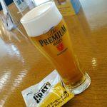 サントリー 天然水のビール工場 東京・武蔵野ブルワリー - 1杯目プレモル