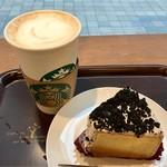スターバックス・コーヒー - クッキーアンドクリーム シフォンケーキ&スターバックスラテ グランデ