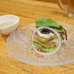 日本料理里乃や - 茹で豚のサラダ
