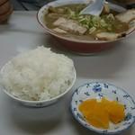 ラーメン麺雅 - 濃口煮干しと、これでライス少々!50円