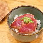 日本料理里乃や - メジマグロの漬け丼
