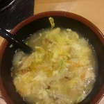 あみ焼き元祖しちりん - 玉子スープ