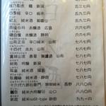 73392727 - メニュー(日本酒)