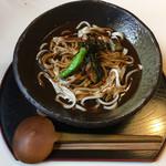 いち蔵蕎麦茶屋 - 黒カレーうどん