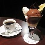 73393180 - マルコリーニ チョコレートパフェ 1,728円(SETコーヒー 2,268円)。    2.17.09.12