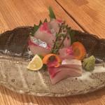 瀬戸内鮮魚と串焼き UZU - 縞鰺はコリコリと鮮度良しだが、ちょっと高い999円
