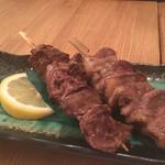 瀬戸内鮮魚と串焼き UZU - レバーとハツ