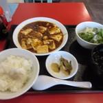 大衆餃子酒場ケンケン - 暫く待つと注文した四川麻婆豆腐定食750円の出来上がりです。
