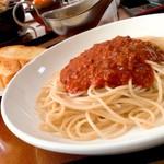 チャーリーレストラン - *スパゲティミートソース(¥850)