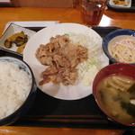 どんつき - 豚バラにんにく焼き¥750-