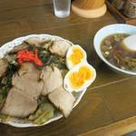 大江戸 - 焼きそば(並・800円)+チャーシュー・双子玉子