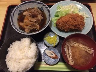 割烹 ゆず - メンチカツと肉豆腐