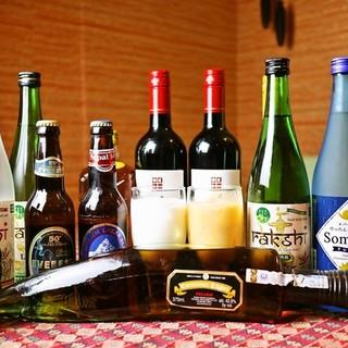 ネパールとインドから取り寄せたワイン&ビールを揃えております