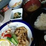 喫茶&お食事 セカンド - 料理写真:ランチパスポート  日替わり定食(セカンド風焼肉)  500円