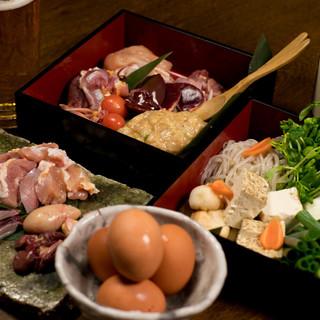 近江軍鶏・京豆腐・九条ねぎを使用した絶品すき焼き