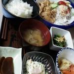 喫茶&お食事 セカンド - ランチパスポート 日替わり定食(セカンド風焼肉)  500円