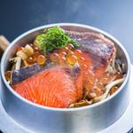 浜菊 - 秋鮭と木ノ子の釜飯