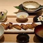 豆腐料理 空野 - 湯葉餃子定食1100円