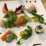 ルミエール デュ ソレイユ - 国立野菜と海の幸のサラダ