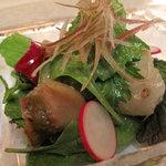7342525 - サザエと帆立貝のサラダ・ワサビ風味。地元の食材重視・味付けも控えめで、好感が持てます。