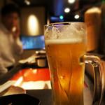 鉄板居酒屋 ソメイヨシノ - 生ビール