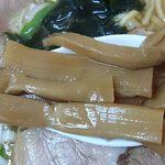 好味苑 - 好味苑 @本蓮沼 日替わりランチ B のラーメンにこれ以外にも盛られる歯応えを残した炊きあがりのたっぷりんこのメンマ