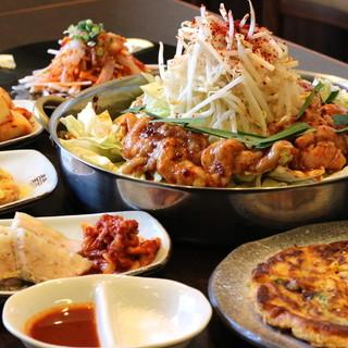【団体・貸切OK】本格韓国料理を堪能!お得なコース◎