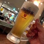 あるふぁ・がーでん - 生ビール、最初の1杯は250円